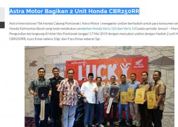 Astra Motor Bagikan 2 Unit Honda CBR250RR