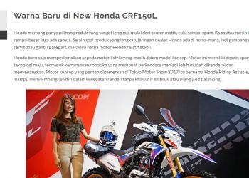 Warna Baru di New Honda CRF150L