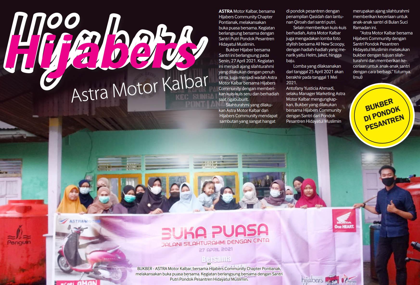 30 apr 2021 Hijaber Astra Motor Kalbar Bukber di Pondok Pesantren