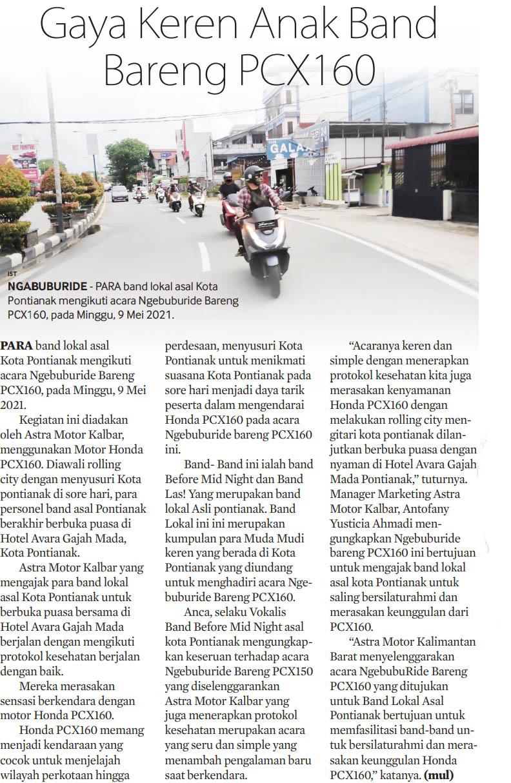 11 mei 2021 Gaya Keren Anak Band Bersama Honda PCX160
