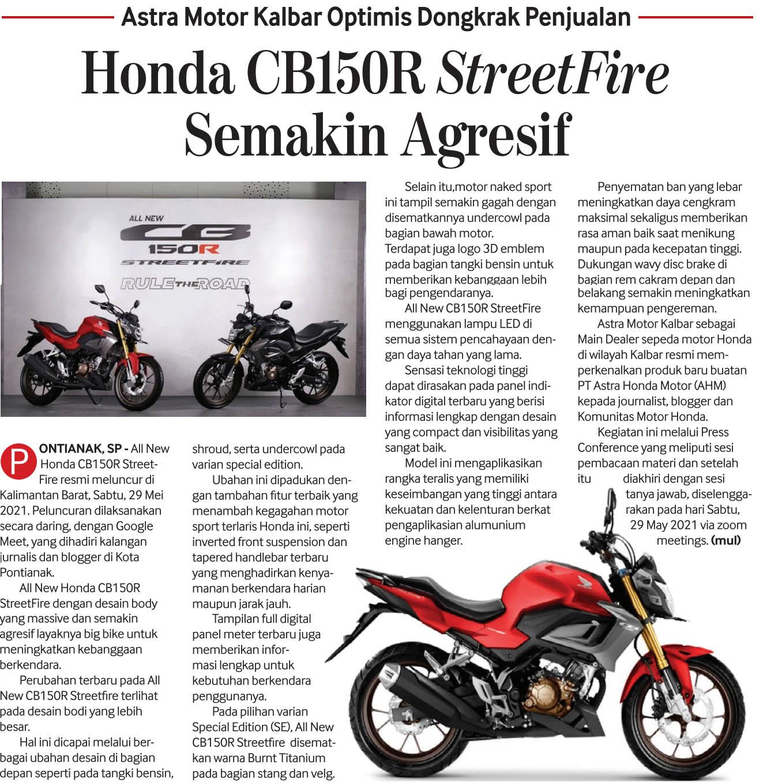 02 juni 2021 Honda CB150R StreetFire Semakin Agresif