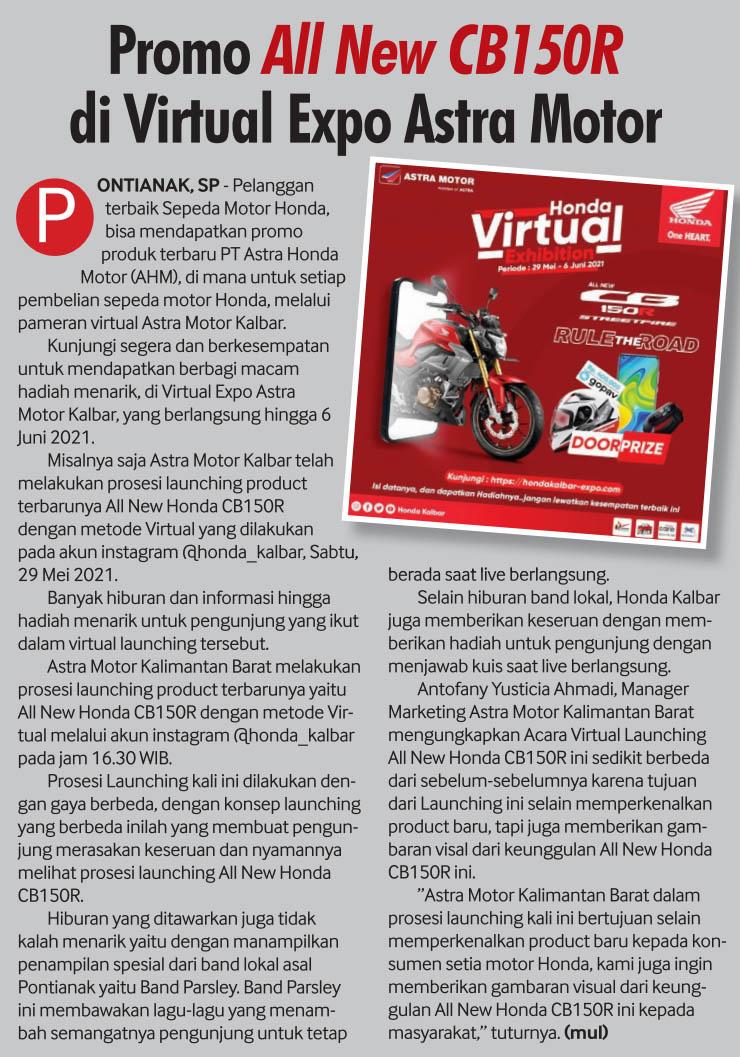 04 juni 2021 Promo All New Honda CB150R di Virtual Expo Astra Motor