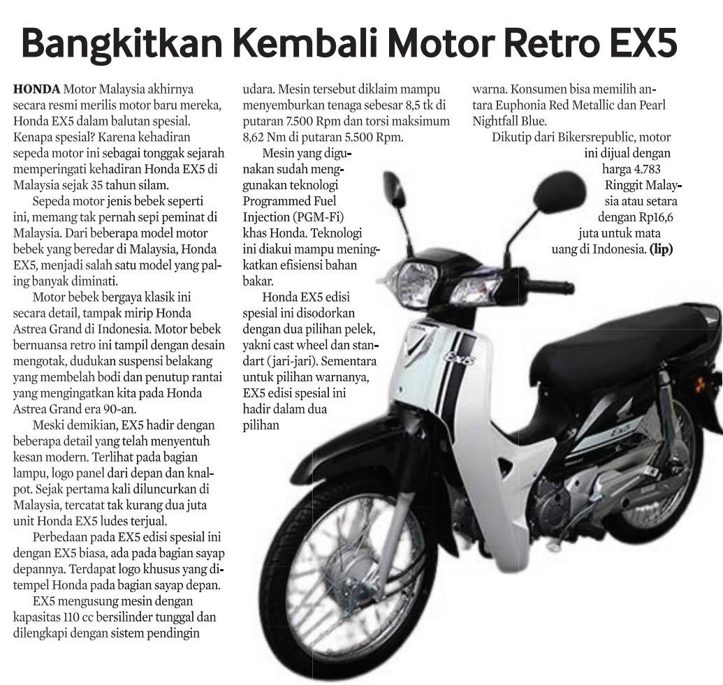 06 juni 2021 Bangkitkan Kembali Motor Retro EX5